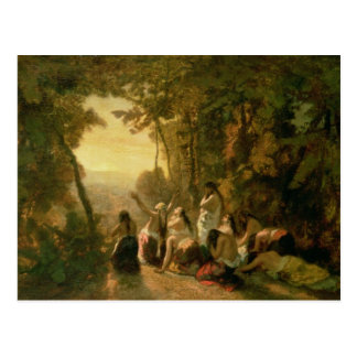 El llorar de la hija de Jephthah, 1846 Postal