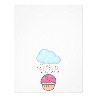 El llover asperja en la magdalena tarjeta publicitaria