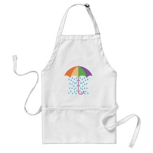 el llover delantal