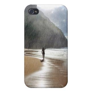El llover en caso del iPhone del paraíso iPhone 4/4S Carcasa