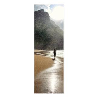 El llover en la señal de Hawaii del paraíso Tarjetas De Visita