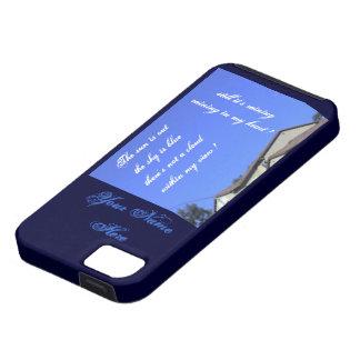 El llover en mi caja azul del ambiente Iphone5 del iPhone 5 Case-Mate Cárcasas