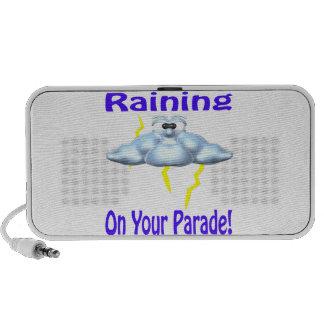 El llover en su desfile mini altavoces