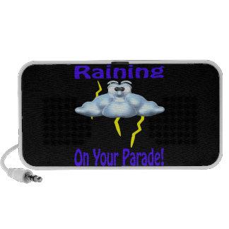 El llover en su desfile sistema de altavoz