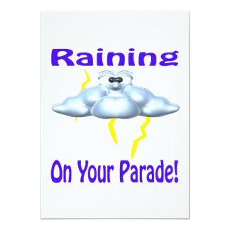 El llover en su desfile