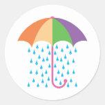 el llover etiqueta redonda