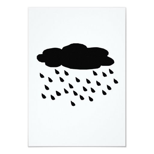 El llover invitación 8,9 x 12,7 cm