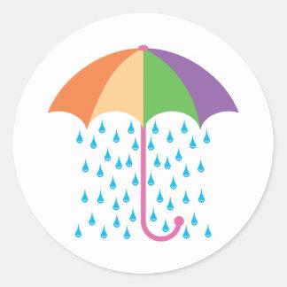 el llover pegatina redonda