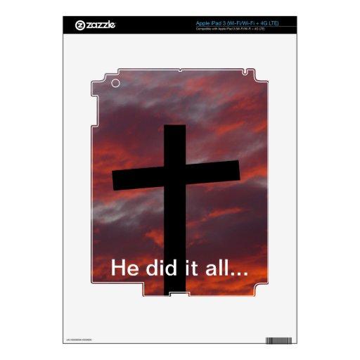 Él lo hizo todo… iPad 3 skins