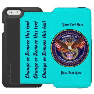 El lo mejor que se puede hacer patriótico va funda billetera para iPhone 6 watson