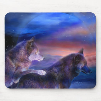 El lobo acopla el arte Mousepad Alfombrilla De Raton