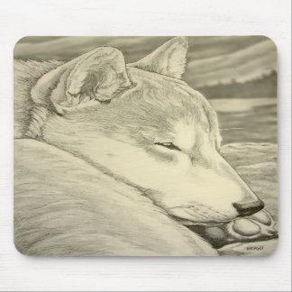 El lobo antiguo de los regalos de Shiba Inu Mousep Alfombrillas De Ratones