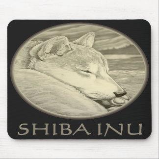 El lobo antiguo de los regalos de Shiba Inu Mousep Tapetes De Raton