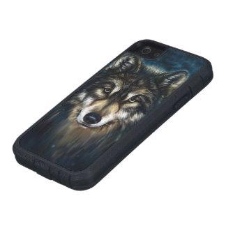 El lobo artístico hace frente a la caja dura del funda para iPhone SE/5/5s