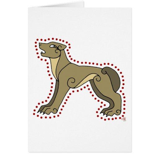 El lobo céltico tarjeta
