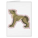 El lobo céltico tarjeta de felicitación