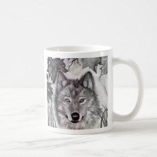 El lobo de Devin Taza Básica Blanca