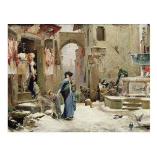 El lobo de Gubbio, 1877 Postal