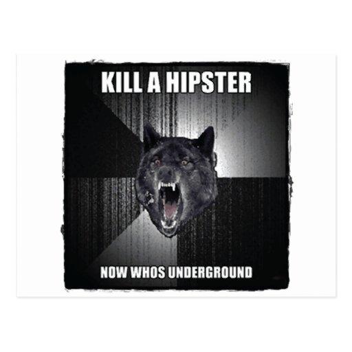 El lobo de la locura odia inconformistas tarjeta postal