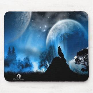 El lobo de plata diseña MousePad Tapete De Ratón