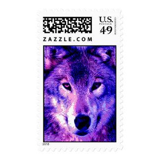 El lobo del arte pop observa franqueo