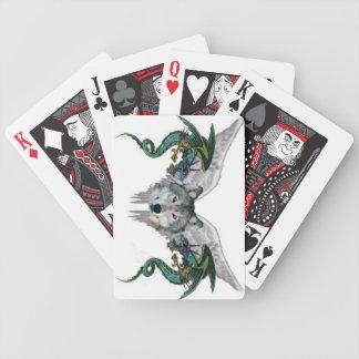 El lobo del vuelo con los dragones modificó naipes baraja cartas de poker