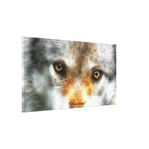 """El lobo gris de """"DESAPARICIÓN"""" observa la impresió Impresiones De Lienzo"""
