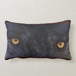 El lobo gris observa la almohada del Lumbar del ar