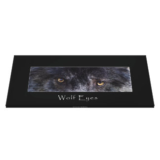 El lobo gris observa la impresión animal de la fot lienzo envuelto para galerías