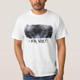 """El lobo gris observa """"yo es arte de la fauna del poleras"""