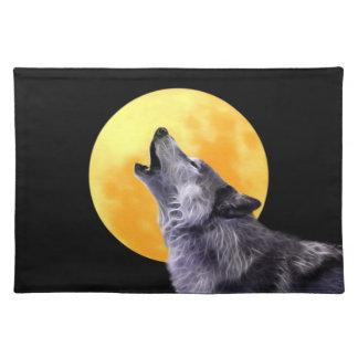 El lobo grita en la Luna Llena Mantel