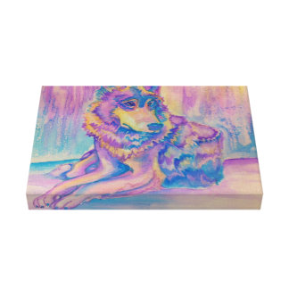 El lobo impresiones en lona estiradas