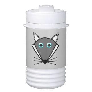 El lobo lindo de Halloween bebe el refrigerador Refrigerador De Bebida Igloo