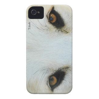 El lobo observa el caso universal de Barely There iPhone 4 Cobertura