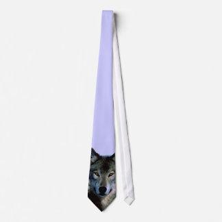 El lobo observa el lazo de encargo corbata personalizada
