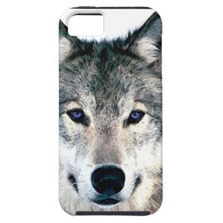 El lobo observa en estampado de animales salvaje iPhone 5 cárcasas