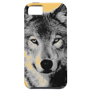 El lobo observa iPhone 5 casos iPhone 5 Funda