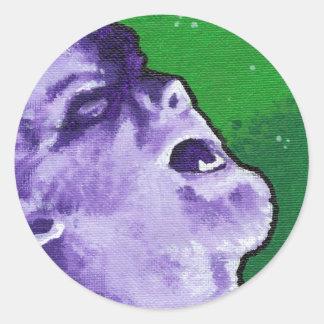 """el lobo "" pegatina redonda"
