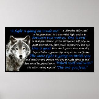 El lobo que usted alimenta impresiones