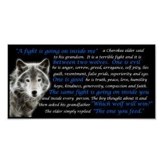 El lobo que usted alimenta póster