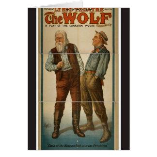 El lobo tarjeta de felicitación