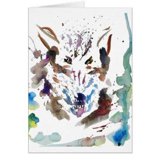 '' El lobo '' Tarjeta De Felicitación