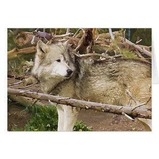 El lobo tarjeta pequeña