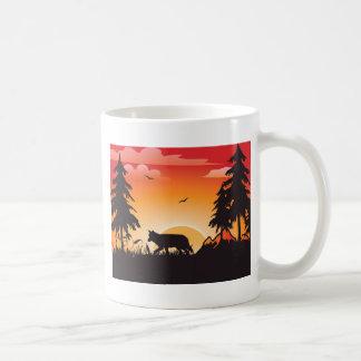 El lobo tazas de café