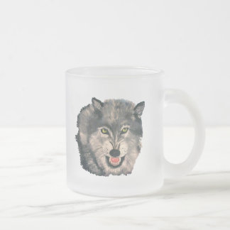 """""""El Lobo, The Wolf"""" Frosted Glass Mug"""