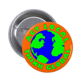 El Local del acto piensa el botón global Pin Redondo De 2 Pulgadas