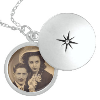 El Locket de la plata esterlina del aniversario añ Collar Redondo