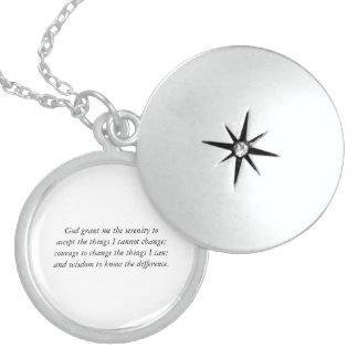 El Locket de la plata esterlina del rezo de la ser Joyerias Personalizadas