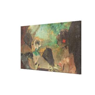 El Loge, c.1883 (aceite en la madera) Lienzo Envuelto Para Galerías