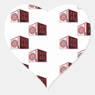 El logotipo 2 de HIP HOP Pegatina De Corazon Personalizadas